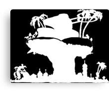 Gorillaz - Plastic Beach (Silhouette) Canvas Print