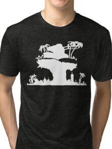 Gorillaz - Plastic Beach (Silhouette) Tri-blend T-Shirt