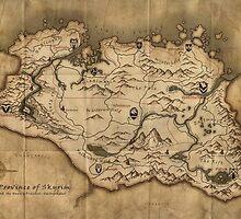 Skyrim map by BrettCyganov