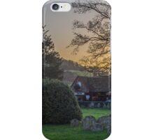 Hambleden churchyard and garage, Buckinghamshire iPhone Case/Skin