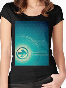 Vintage abstract design for all. Women's Fitted Scoop T-Shirt