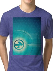 Vintage abstract design for all. Tri-blend T-Shirt