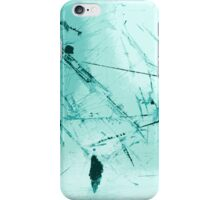worked surface cool blue iPhone Case/Skin