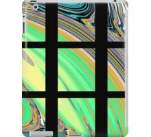 Black Window with Colorful Marbled Panels iPad Case/Skin