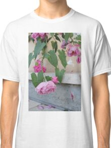 Pink roses photograph Classic T-Shirt