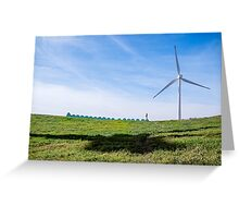 Green Machine - on top of the world Greeting Card