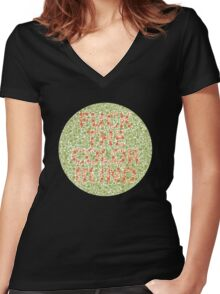 Love The Color Blind Women's Fitted V-Neck T-Shirt