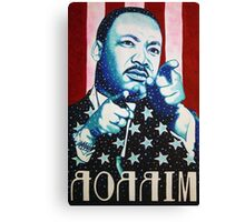 Martin Luther King Look in the Mirror (Mirror Image) T-Shirt Canvas Print