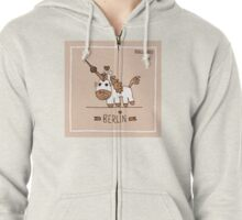 Berlin unicorn Zipped Hoodie