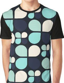 Blue Daisy - Flower Pattern Graphic T-Shirt