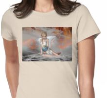 An Angel Weeps Womens Fitted T-Shirt