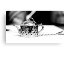 Tea infuser 2 - BW Canvas Print