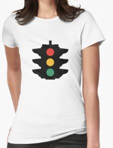 Traffic light sign Womens Fitted T-Shirt