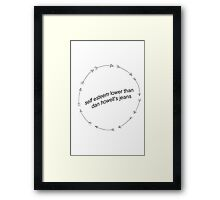 Hilarious Dan Howell Quote Framed Print