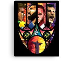 World Cup in Brazil poster Art Canvas Print
