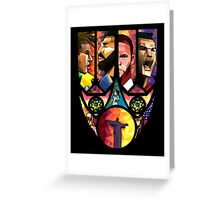 World Cup in Brazil poster Art Greeting Card