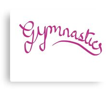 Gymnastics - Ribbon design Canvas Print