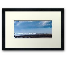 Sea beach in Ericeira Framed Print