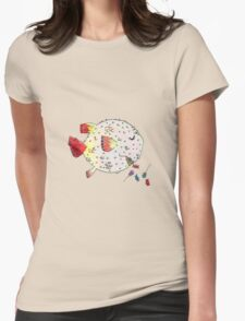 Exploding Pufferfish Piñata Womens Fitted T-Shirt