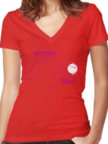 Sputnik 1 Women's Fitted V-Neck T-Shirt