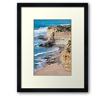 Portuguese Atlantic coast Framed Print