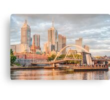 Pastel Melbourne Canvas Print