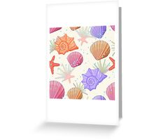 "StylePrint ""UnderSea shells"" Greeting Card"