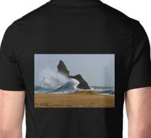 Sea, Rock,Sand.Philosophical erosion.. Unisex T-Shirt