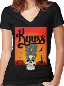 k s r Women's Fitted V-Neck T-Shirt