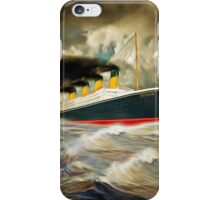A digital painting of RMS Titanic iPhone Case/Skin