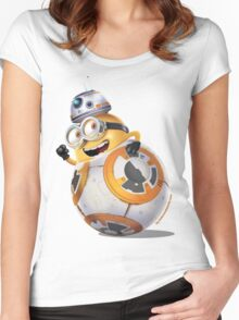 Minion BB-8 Women's Fitted Scoop T-Shirt