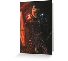 Interstellar Knight Greeting Card
