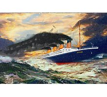 A digital painting of RMS Titanic 1912 Photographic Print