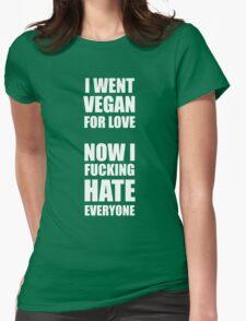 Vegan statement Womens Fitted T-Shirt