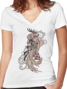 Vicar Amelia - Bloodborne Women's Fitted V-Neck T-Shirt