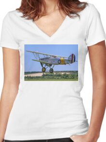 Hawker Nimrod I S1581/573 G-BWWK Women's Fitted V-Neck T-Shirt