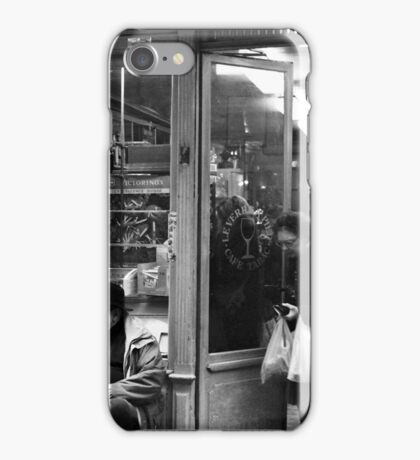 Bar Tabac, Rue Mouffetard, Paris, December 2004 iPhone Case/Skin