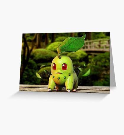Realistic Pokemon: Chikorita Greeting Card