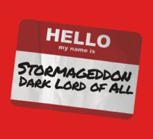 Hello My Name Is Stormageddon Baby Tee