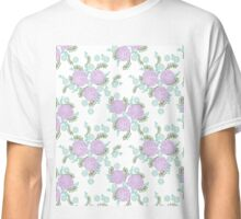 Chrysanthemum // mint lilac white by andrea lauren  Classic T-Shirt
