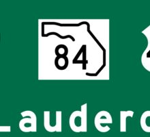 Fort Lauderdale, Road Sign, Florida Sticker