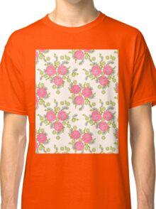Chrysanthemum // pink green pastel white by andrea lauren  Classic T-Shirt