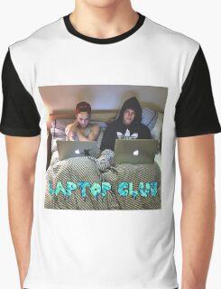 Joe and Caspar Laptop Club Graphic T-Shirt