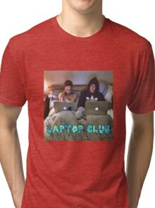 Joe and Caspar Laptop Club Tri-blend T-Shirt