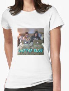 Joe and Caspar Laptop Club Womens T-Shirt