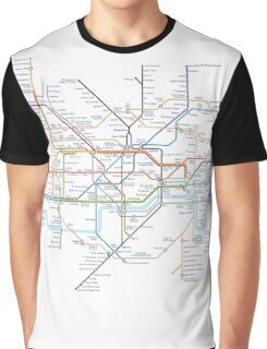 Tube Map as Film Genres Graphic T-Shirt