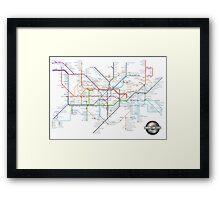 Tube Map as Film Genres Framed Print