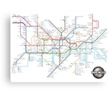Tube Map as Film Genres Canvas Print