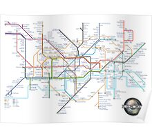 Tube Map as Film Genres Poster