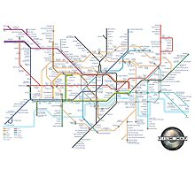 Tube Map as Film Genres Photographic Print